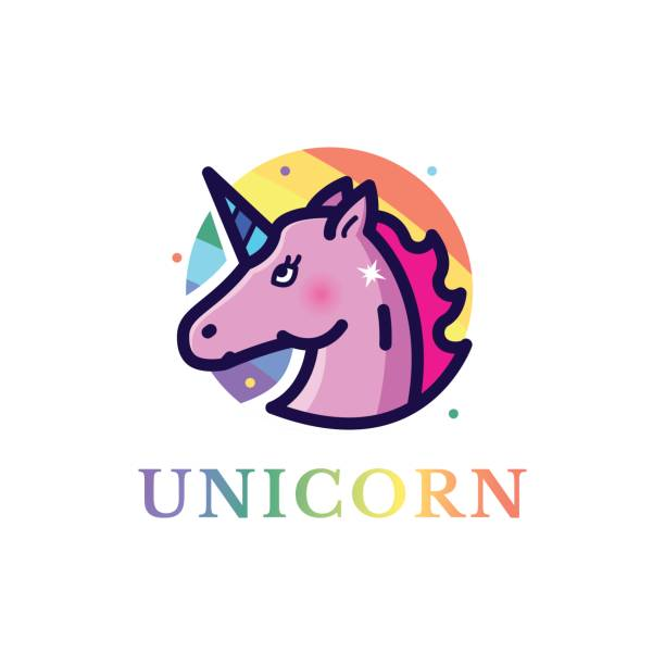 unicorn vector illustration - unicorn line drawings stock illustrations, clip art, cartoons, & icons