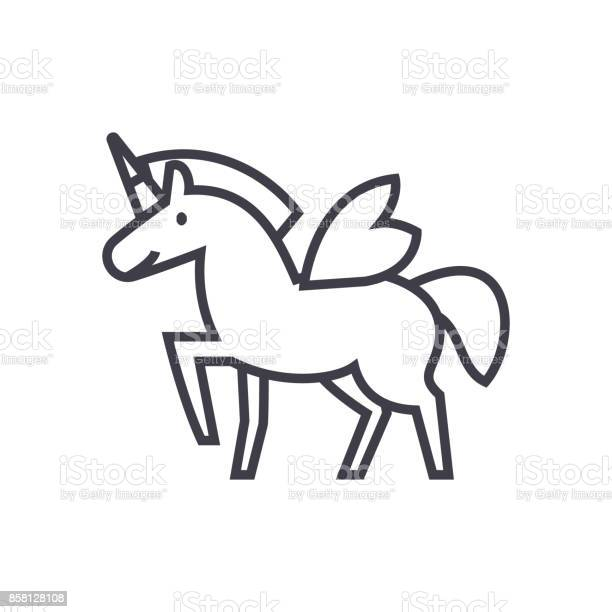 Unicorn vector line icon sign illustration on background editable vector id858128108?b=1&k=6&m=858128108&s=612x612&h=pl1a6ijohpnrbhkywpx1aygkb8zer3b9tt 519s6108=