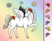 Stars, Horn, Wings and Flowers are grouped separately for easy editing.