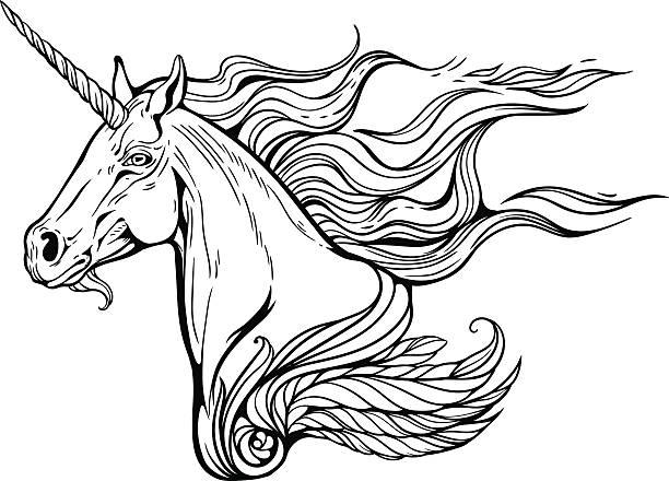 Best Fire Unicorn Illustrations, Royalty-Free Vector