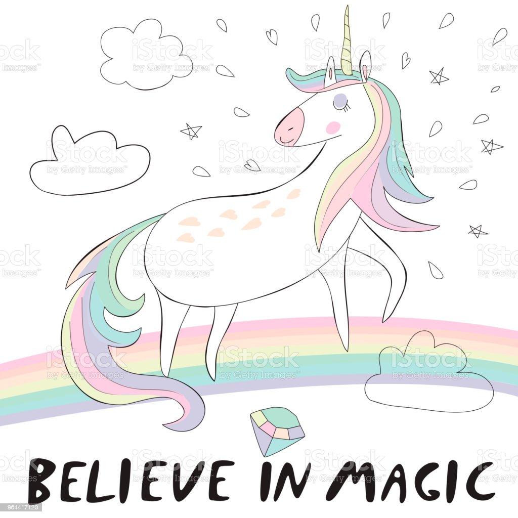 unicornrainbow - Royalty-free Art stock vector