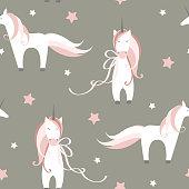 istock Unicorns and stars. Vector pattern 1224299213