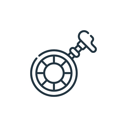 unicycle icon vector from carnival concept. Thin line illustration of unicycle editable stroke. unicycle linear sign for use on web and mobile apps, logo, print media..