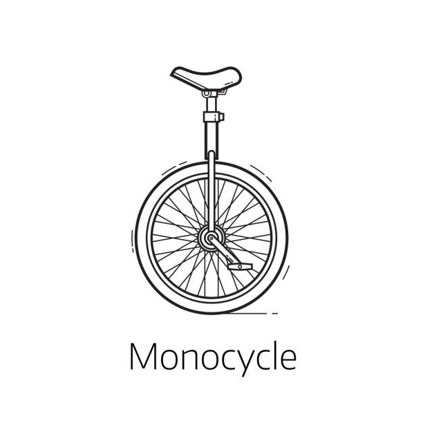 Line Art Unicycle : Royalty free unicycle clip art vector images