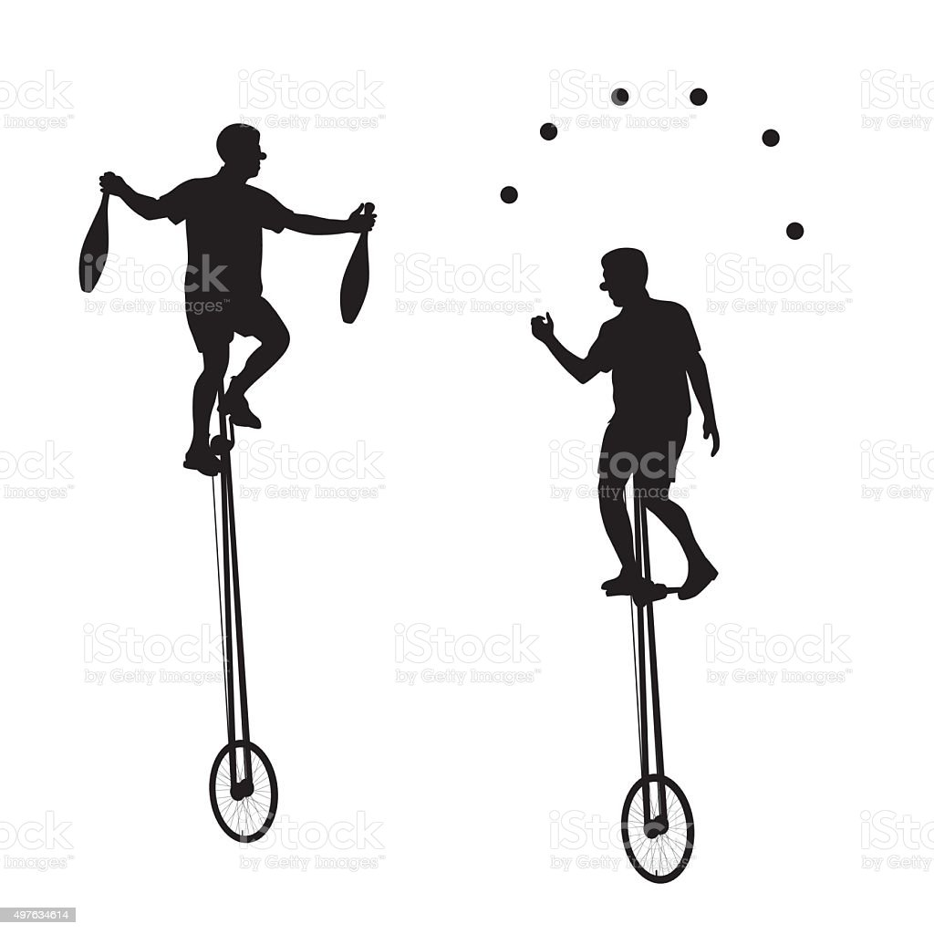 Unicyclist vector art illustration