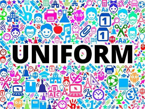 Uniform School and Education Vector Icon Background