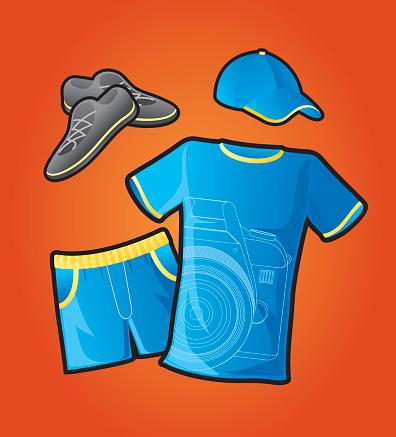 Uniform, shirt, shorts, clothing