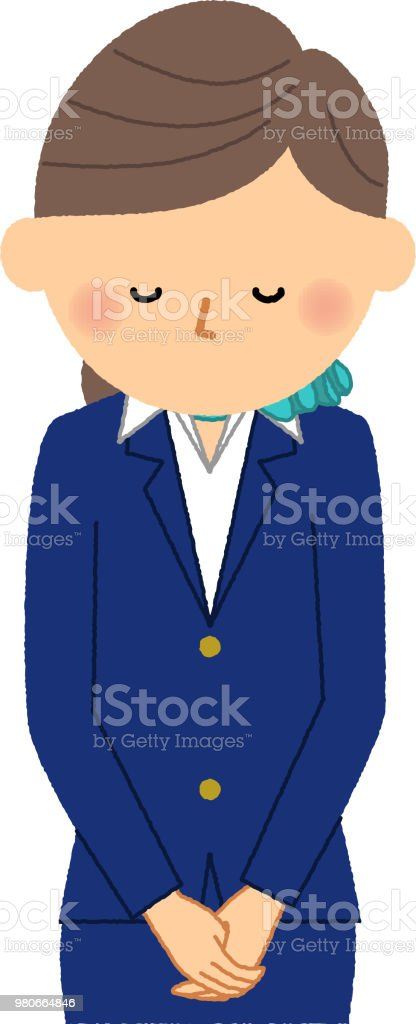制服女性の弓 ベクターアートイラスト