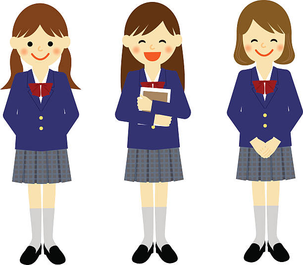 Best High School Uniform Illustrations, Royalty-Free ...