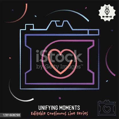 istock Unifying Moments Editable Line Illustration 1281608293