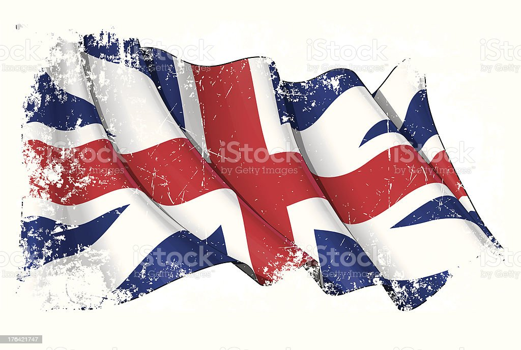 Union Jack 1606–1801 (The King's Colours) Grunge royalty-free union jack 16061801 grunge stock vector art & more images of american revolution