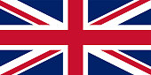 UK. Union Jack. Flag of United Kingdom. Official colors. Correct proportion. Vector