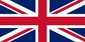 UK. Union Jack. Flag of United Kingdom. Official colors. Correct proportion. Vector illustration