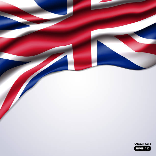 union jack flag realistic vector - union jack flag stock illustrations, clip art, cartoons, & icons