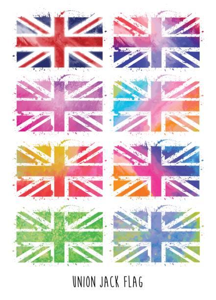 ユニオンジャックの旗 - ユニオンジャックの国旗点のイラスト素材/クリップアート素材/マンガ素材/アイコン素材