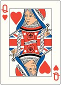 Union jack Queen of Hearts Two