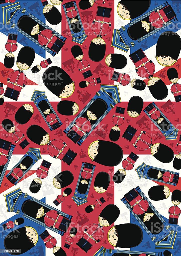 Union Jack Royal Guard Pattern royalty-free stock vector art