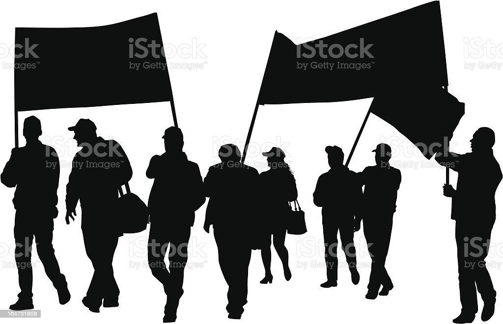Union people vector art illustration