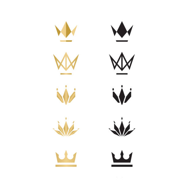 Unique Crown logo, illustration, vector Unique logo which can help your business to grow up crown headwear stock illustrations