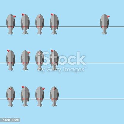 istock Unique free independent bird 518816656