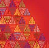 Unique hand drawn triangle pattern.