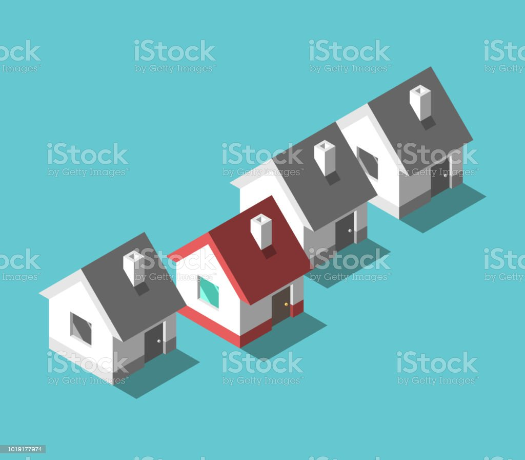 Einzigartiges Haus, Wohnkonzept – Vektorgrafik