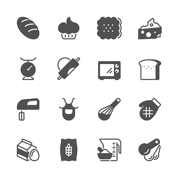 ユニークなアイコン-パン - フランス料理点のイラスト素材/クリップアート素材/マンガ素材/アイコン素材
