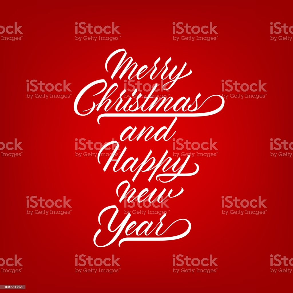 Unique Lettering Merry Christmas For Your Projects Stock Vector Art ...
