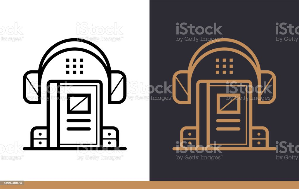 Unique linear icon of Audio book. Online education, e-learning. Modern outline icons for mobile application unique linear icon of audio book online education elearning modern outline icons for mobile application - stockowe grafiki wektorowe i więcej obrazów bez ludzi royalty-free
