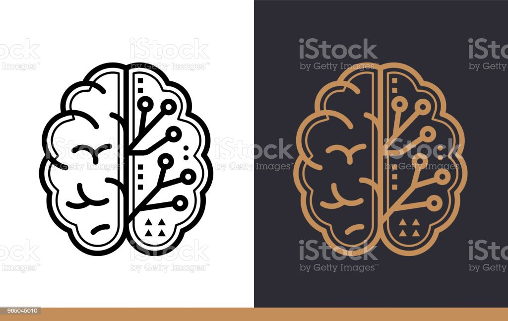 Unique linear icon of Digital brain. Online education, e-learning. Modern outline icons for mobile application unique linear icon of digital brain online education elearning modern outline icons for mobile application - stockowe grafiki wektorowe i więcej obrazów bez ludzi royalty-free