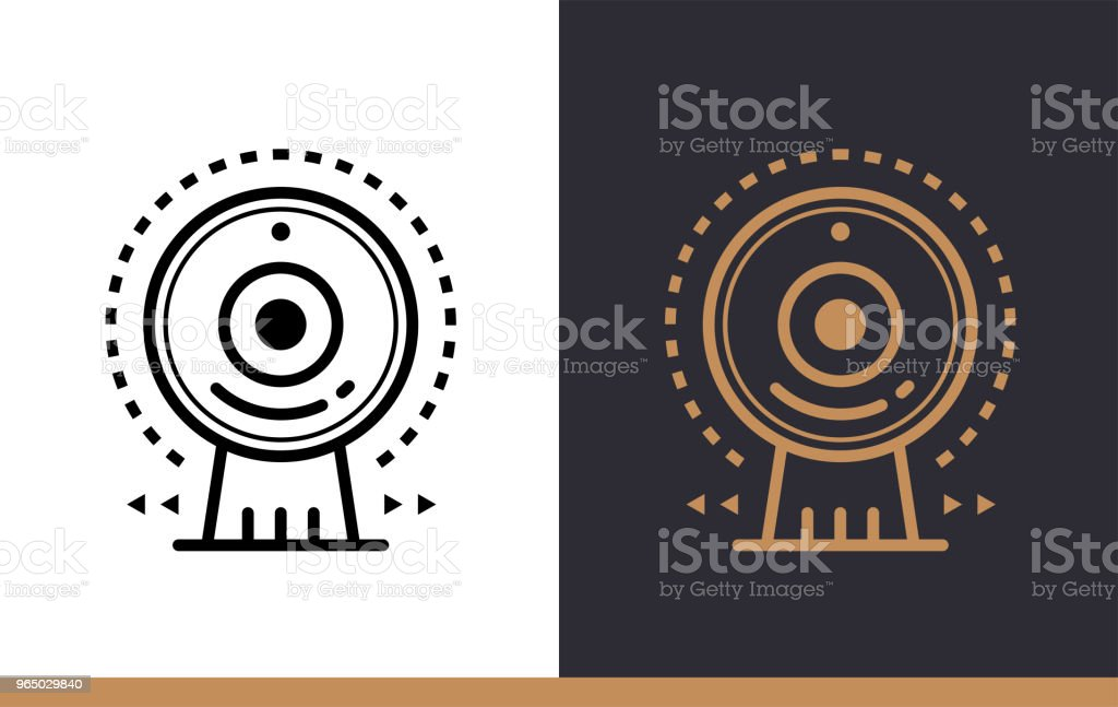 Unique linear icon of Web camera. Online education, e-learning. Modern outline icons for mobile application royalty-free unique linear icon of web camera online education elearning modern outline icons for mobile application stock vector art & more images of design