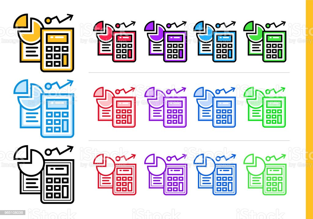 Unique linear icons ACCOUNTING of finance, banking. Modern outline icons for mobile application royalty-free unique linear icons accounting of finance banking modern outline icons for mobile application stock illustration - download image now
