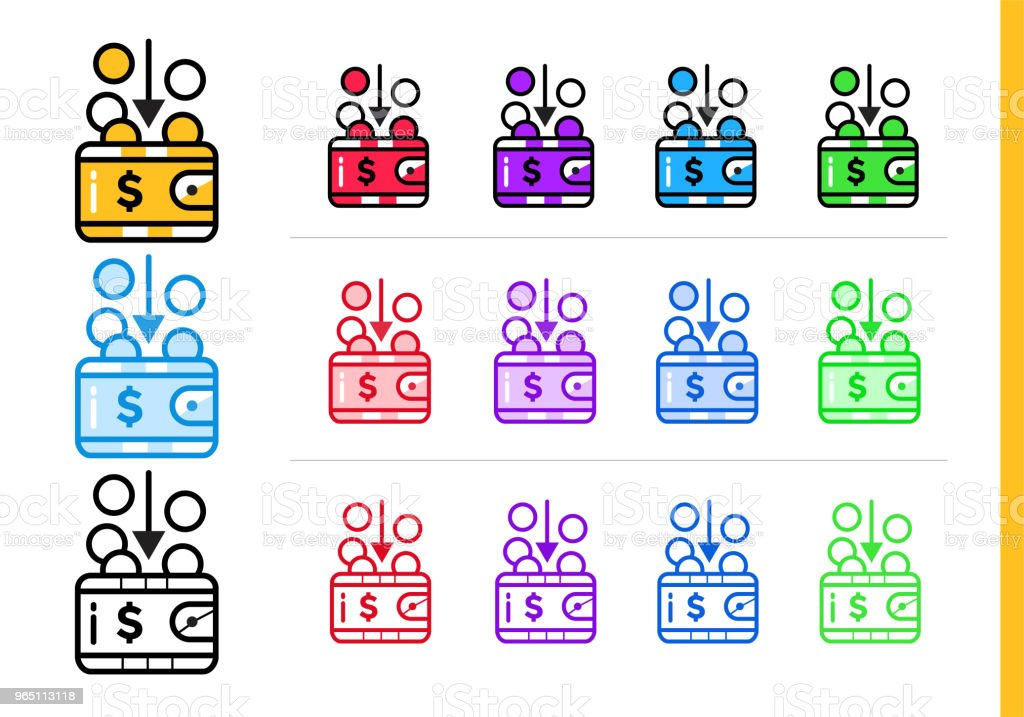 Unique linear icons INCOME of finance, banking. Modern outline icons for mobile application royalty-free unique linear icons income of finance banking modern outline icons for mobile application stock vector art & more images of banking