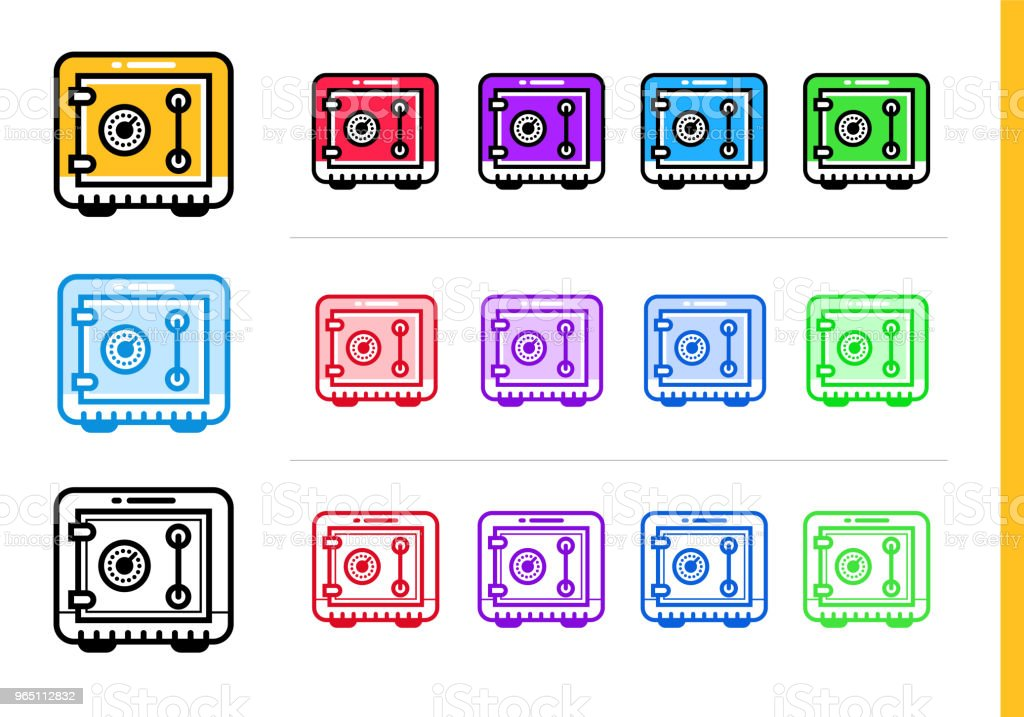 Unique linear icons SAVING MONEY of finance, banking. Modern outline icons for mobile application royalty-free unique linear icons saving money of finance banking modern outline icons for mobile application stock vector art & more images of banking