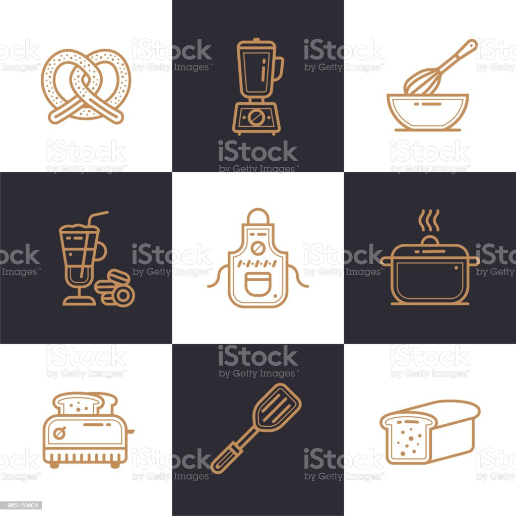 Unique linear icons set of bakery, cooking. High quality modern icons suitable for info graphics, print media and interfaces royalty-free unique linear icons set of bakery cooking high quality modern icons suitable for info graphics print media and interfaces stock vector art & more images of bakery