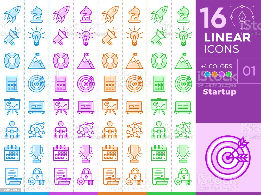 Unique linear icons with different color for banners and other types of new business design. unique linear icons with different color for banners and other types of new business design - stockowe grafiki wektorowe i więcej obrazów bez ludzi royalty-free