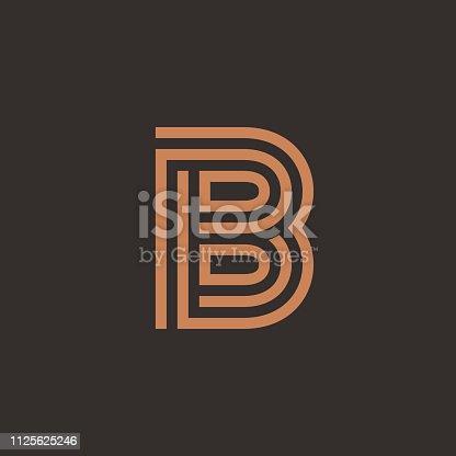 Unique modern creative elegant letter B based vector icon logo template.