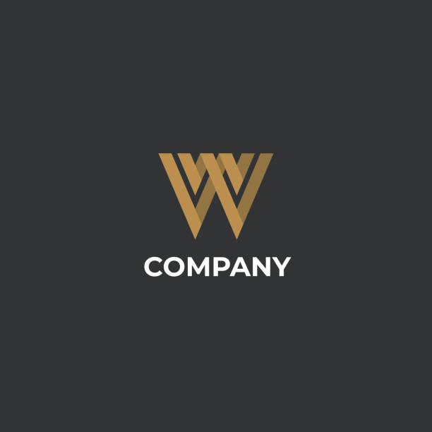 Unique modern creative elegant letter W logo template. Vector icon. Unique modern creative elegant letter W logo template. Vector icon. w logo stock illustrations