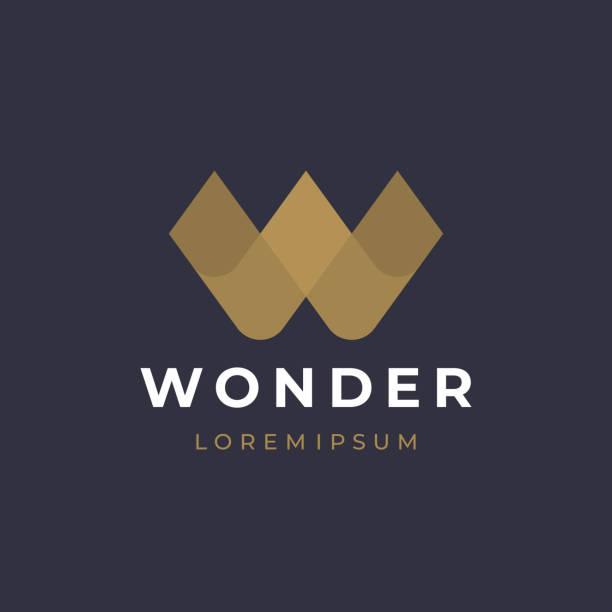 Unique modern creative elegant letter W logotype template. Vector icon. Unique modern creative elegant letter W logotype template. Vector icon. w logo stock illustrations