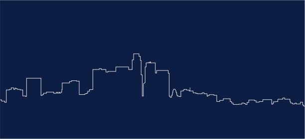 A unique White and Blue navy picture of Los Angeles skyline