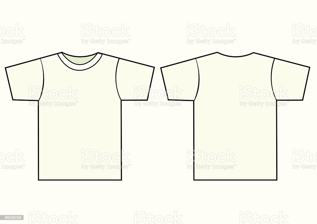 Unisex T-shirt vector template royalty-free unisex tshirt vector template stock vector art & more images of casual clothing