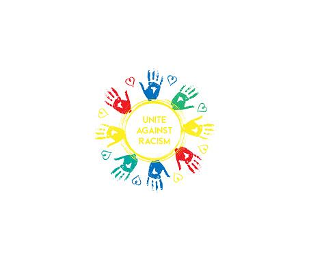 Unite Against Racism design illustration graphic