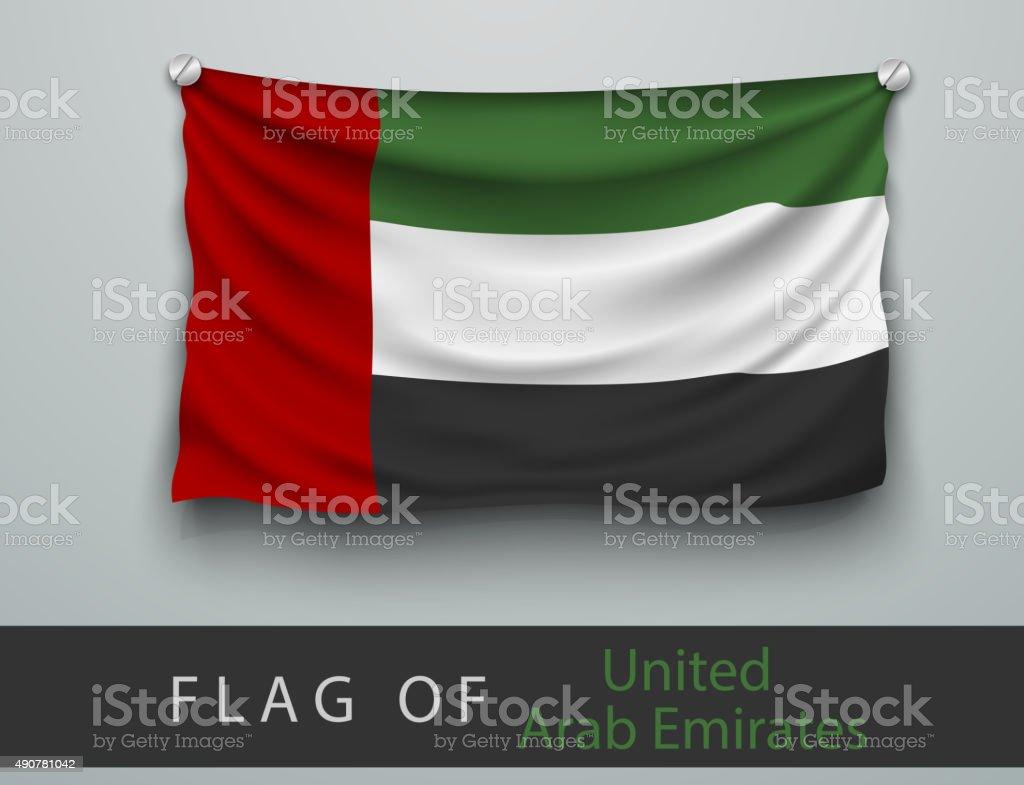 FLAG OF United Arab Emirates  battered vector art illustration