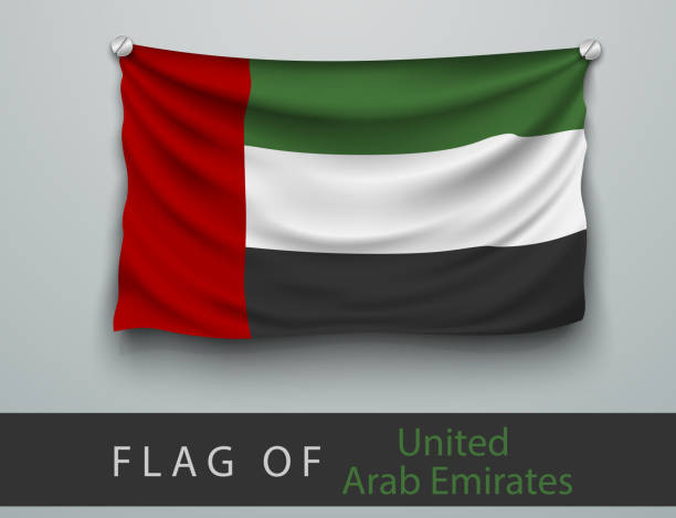 FLAG OF United Arab Emirates  battered vector art illustration