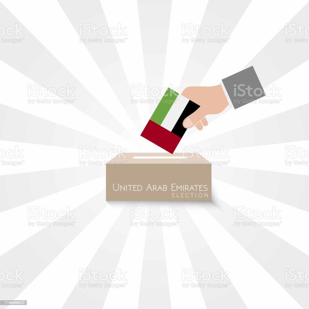 United Arab Emirates Elections Vote Box Vector Work
