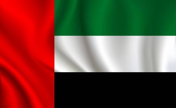 阿拉伯聯合大公國國旗背景 - uae flag 幅插畫檔、美工圖案、卡通及圖標