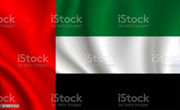 阿拉伯聯合大公國國旗背景向量圖形及更多一個物體圖片