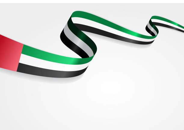 united arab emirates flag background. vector illustration - uae flag stock illustrations
