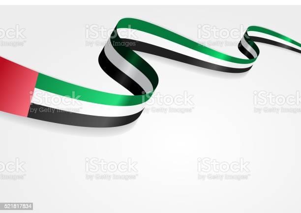 United Arab Emirates Flag Background Vector Illustration向量圖形及更多式樣圖片