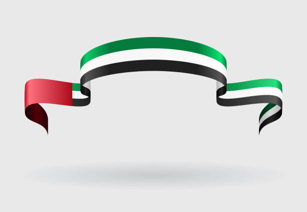 united arab emirates flag background. vector illustration. - uae flag 幅插畫檔、美工圖案、卡通及圖標